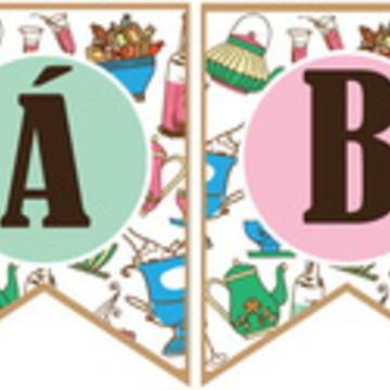 Bandeirolas Impressas 6 Chá Bar