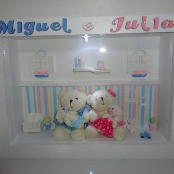 Porta Maternidade - Casal de Gêmeos
