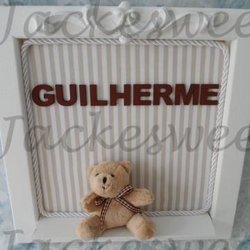 Enfeite Porta Maternidade Urso Provençal