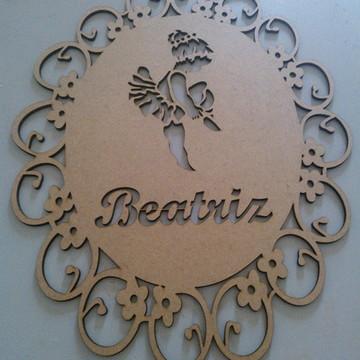 Porta Maternidade Bailarina floral