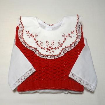 Pagão Com Colete De Tricô (vermelho)