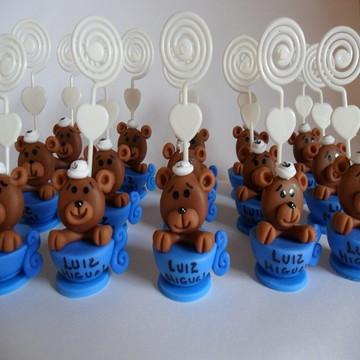 Lembracinha Urso Marinheiro de biscuit