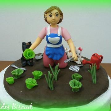 Topo de bolo - Horta orgânica