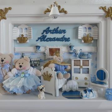 Quadro Maternidade Bebê Família Urso