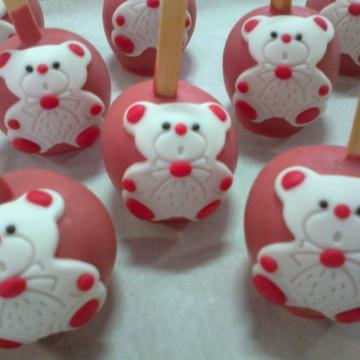 Maçã Do Amor - Ursinha Vermelha e Branca