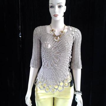 Blusa  Crochet  Ana  Maria  Braga