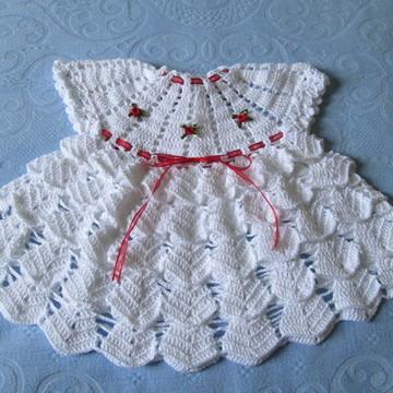 Vestido Em Crochê - Moda Verão Bebê