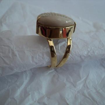 Anel de búzios prata banhado a Ouro 18k