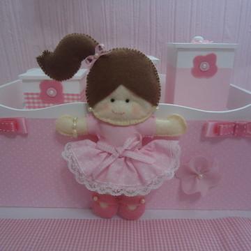 Kit Higiene Bebê Boneca Rosa