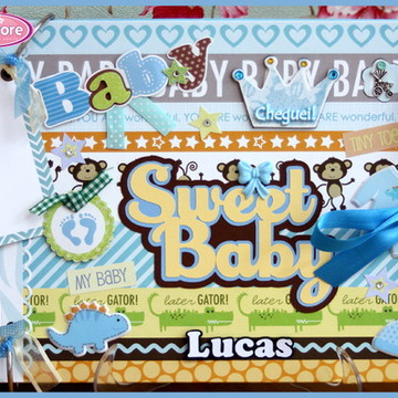 Álbum Fotos E Recados Bebê Menino (3)