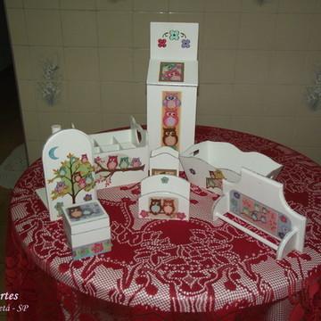 Kit para cozinha Corujinhas
