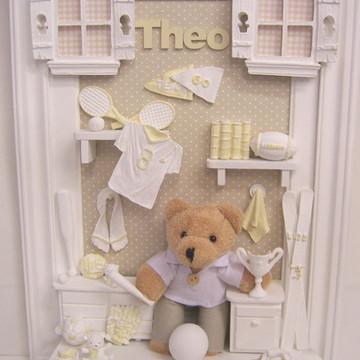 Enfeite porta Maternidade Urso esportivo