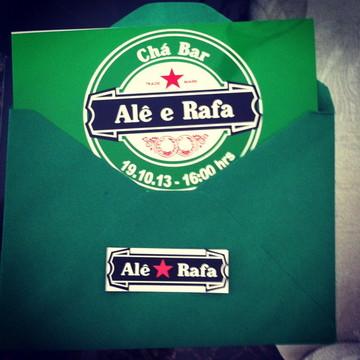 Convite Chá Bar Heineken