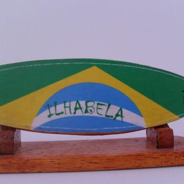 Mini Prancha de Surf Brasil Decorativa