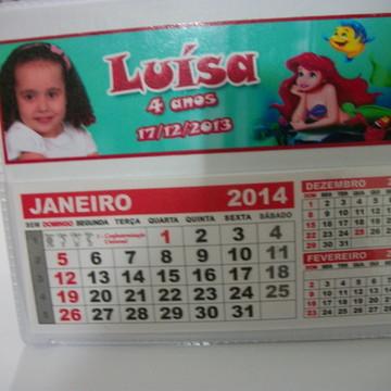Calendario De Mesa da pequena sereia