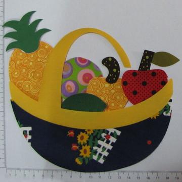 7.031 - Aplique cesta com frutas