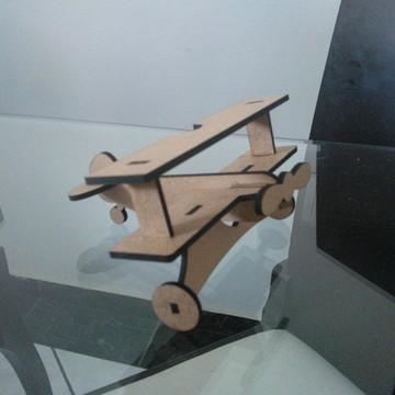 Aviao mdf 3D