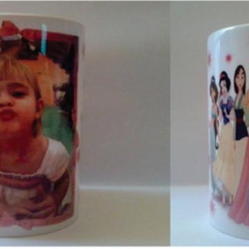 Caneca Personalizada Com Foto Princesas