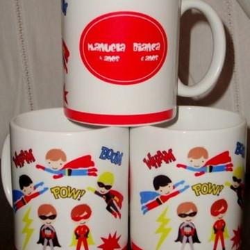 Caneca Personalizada Super Herois