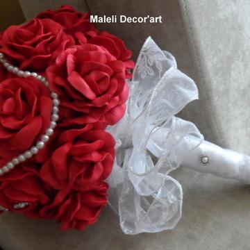 Bouquet de noiva- Romântico vermelho