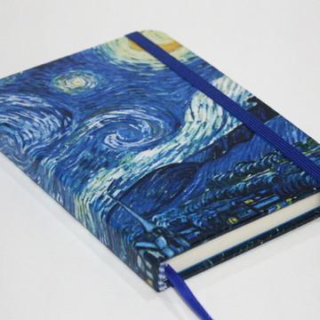 Caderneta Sketchbook Noite Estrelada Van Gogh