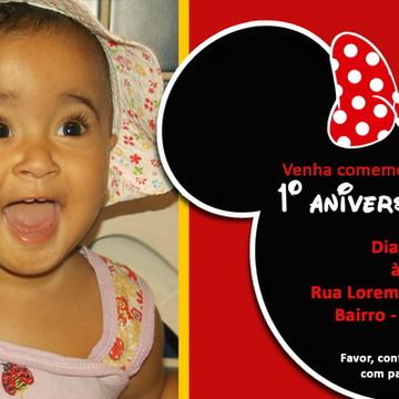 Convite Aniversário Minnie Mickey