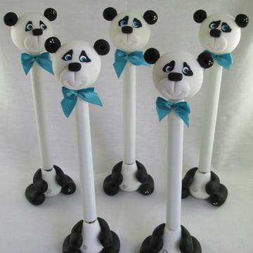 Caneta Urso Panda Em Biscuit