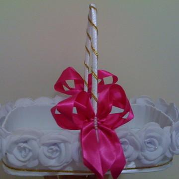 cesta de florista para botoes