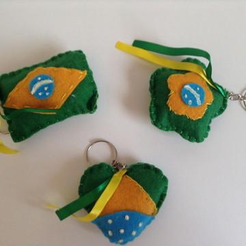 Chaveiro de feltro - Copa futebol