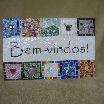 Painel De Boas Vindas Em Mosaico P