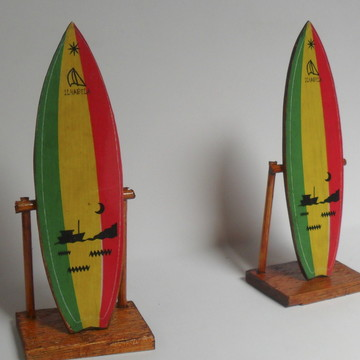Mini Prancha De Surf Reggae Decorativa