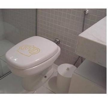 Adesivo decorativo banheiro coroa