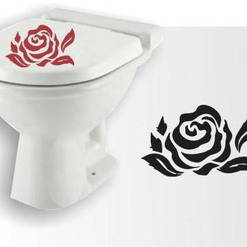 Adesivos decorativos de banheiro rosa