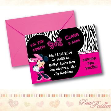 Convite Minnie Pink