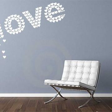 Adesivo de parede coracoes love