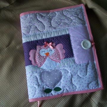 capa caderno patchwork