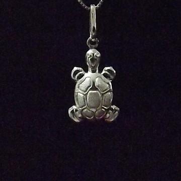 Pingente tartaruga de prata