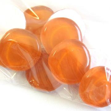 Pastilhas de vidro redondas /LARANJA