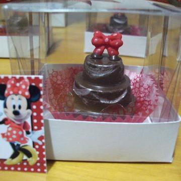 Mini bolo de Chocolate Na Caixinha