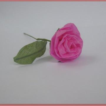 rosa de papel seda