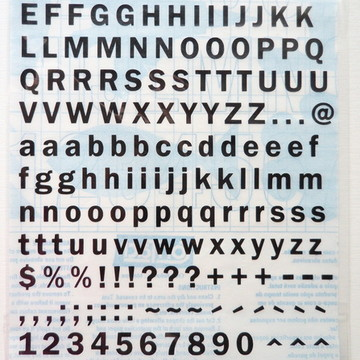 Alfabeto Adesivo Liso