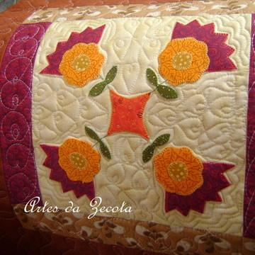 Capa para almofada de patchwork