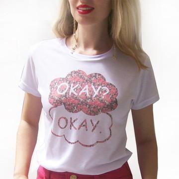 T-shirt Okay A culpa é das estrelas flor