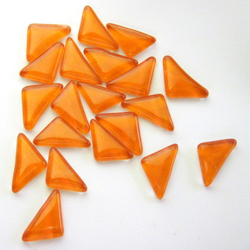 PASTILHAS DE VIDRO / LARANJA /Triângulos