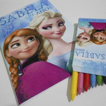 Kit de Colorir Personalizado Frozen