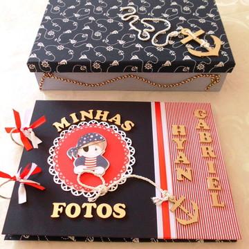 Álbum Para Fotos -Menino Marinheiro