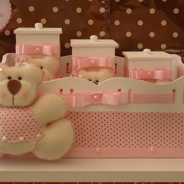 Kit Higiene Bebê Ursa c/ Blusinha