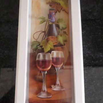 Quadro Arte Francesa Vinho II