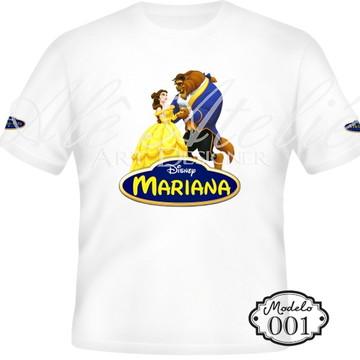 Camiseta Bela e a Fera Personalizada