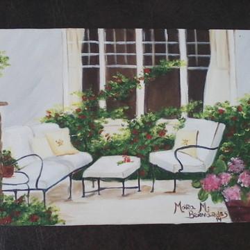 Pintura em tela- Jardim